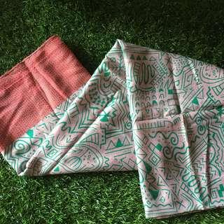 Pasmina Abstract Motif (tosca & pastel)
