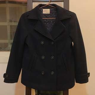 152cm ZARA 女童藏青色西裝外套
