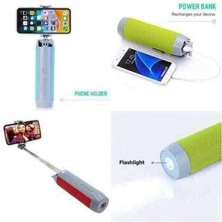 Powerbank/Monopod/Speaker/Stand/Flashlight