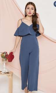 870d34038b2 BN with tag Languidly Lethal Jumpsuit in Blue