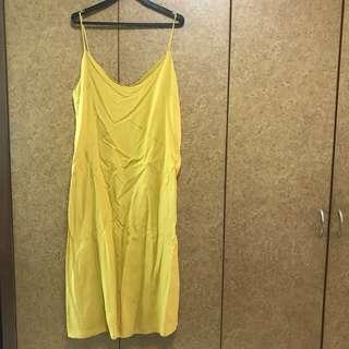 Editors Market Yellow Midi Dress