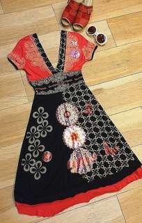 New Desigual Kimono Midi Dress