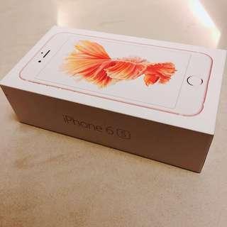 iPhone 6s, rose gold, 16GB empty box 蘋果手機空盒 整人包裝盒