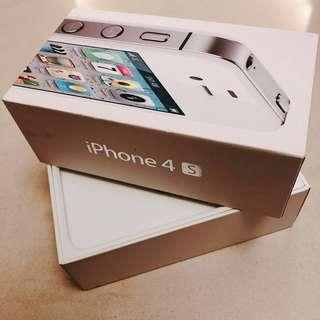 iPhone 4s, white, 16GB empty box 空盒子 整人包裝盒