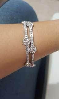 bracelet circonian silver like diamonds