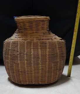 Rattan fishing basket