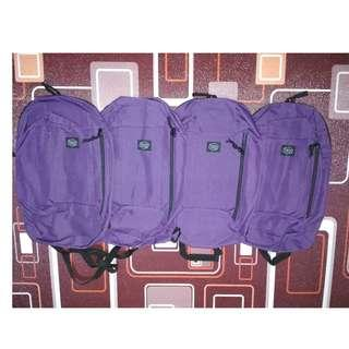 PROMO PROMO Murah Meriah Paket 4 Tas Backpack Ransel Beaucoup 10L Purple