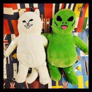 🛸🤺正版 RIPNDIP 中指貓🐱🖕🏻 外星人👽👅 玩偶 💕