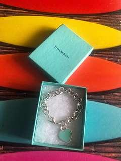 Tiffany & Co Teal Enamel return to Tiffany heart tag Bracelet