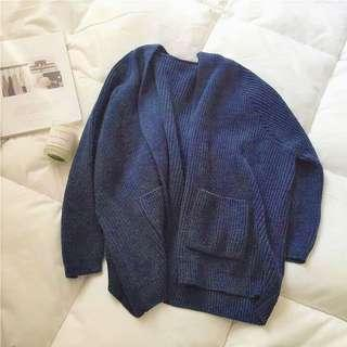 $12 Blue Knit Cardigan INSTOCK