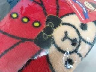 🚚 大紅款熊熊法蘭絨毯