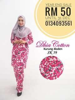 Kurung moden cotton (XS-4XL)