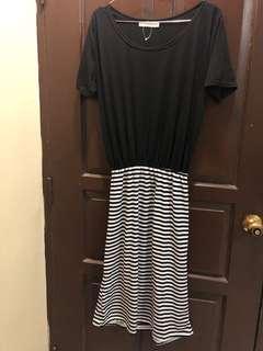 Cosco Dress Stripe Black n White