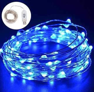 LED Blue Fairy Lights