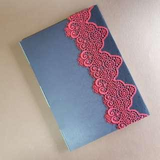 🚚 Longstitch binding lace journal A5 size