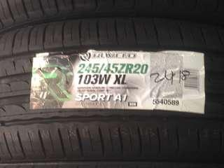New tyre promotion 245/45/20