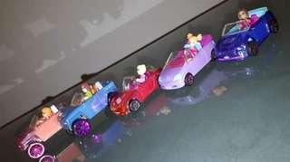 5 (lima) buah 2007 mattel polly pocket car