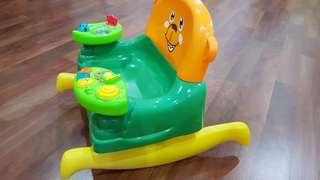 Rocking chair with sound and music toy