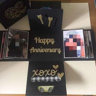 Customised Explosion Box Card for Anniversary theme