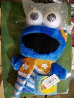 芝麻街Cookie monster手偶