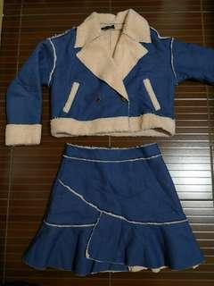 Fashion Denim style winter clothes set