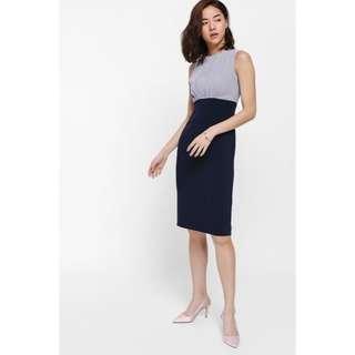 Love bonito LB ondrelle pleated contrast midi dress