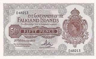 Falkland Islands 50 Pence 1974 UNC