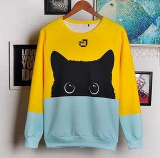 UNISEX Black Cat Pullover Sweater [LIMITED]