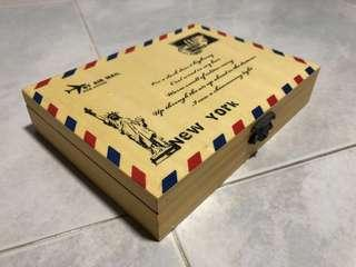 Letters Storage Box - Vintage New York Mail Print