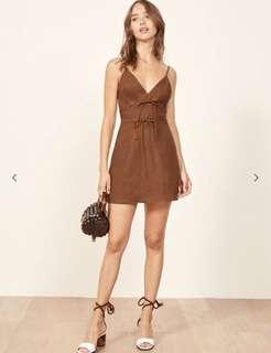 Reformation Clover Dress in brown