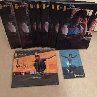 (內裡有價錢)全新周杰倫File,月曆,Postcard