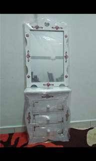 Makeup Table Vanity mirror set drawer meja