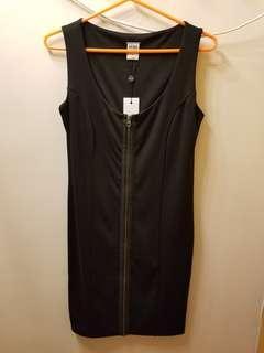 Vera Moda Zip Front Black Dress
