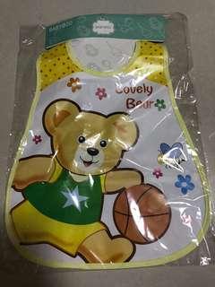 Lovely bear baby bib