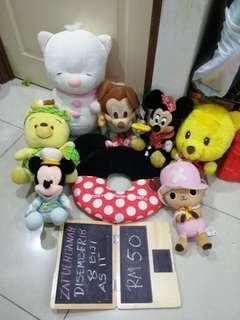 Soft Toys pooh mickey all rm50