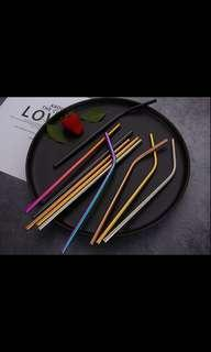 Best New Year Gift Stainless Metal straw 3pc set