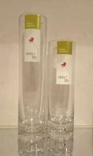 debi lily design. 玻璃藝術花瓶 (買1送1)x2