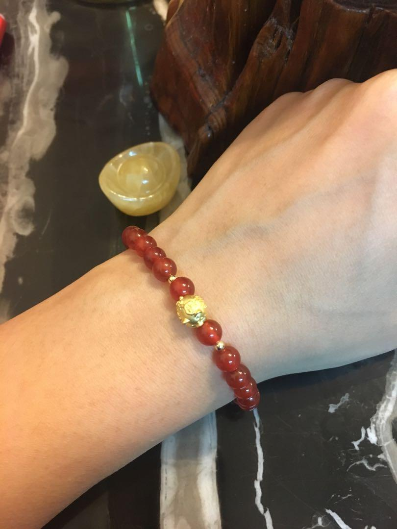 999 gold bracelet 足金豬仔手鏈