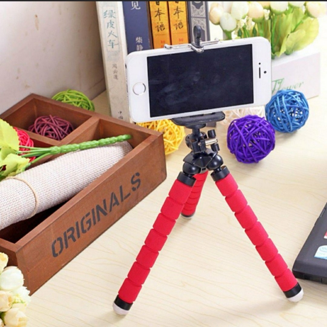 Consumer Electronics Able Universal Flexible Foam Legs Octopus Tripod Stand+adapter For Gopro Hero 3 4 Slr Small Camera Holder Stand For Iphone 7 5s Se 6s Live Equipment