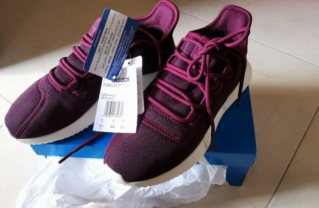new product 6e6be af593 Adidas tubular shadow maroon, Women's Fashion, Shoes ...