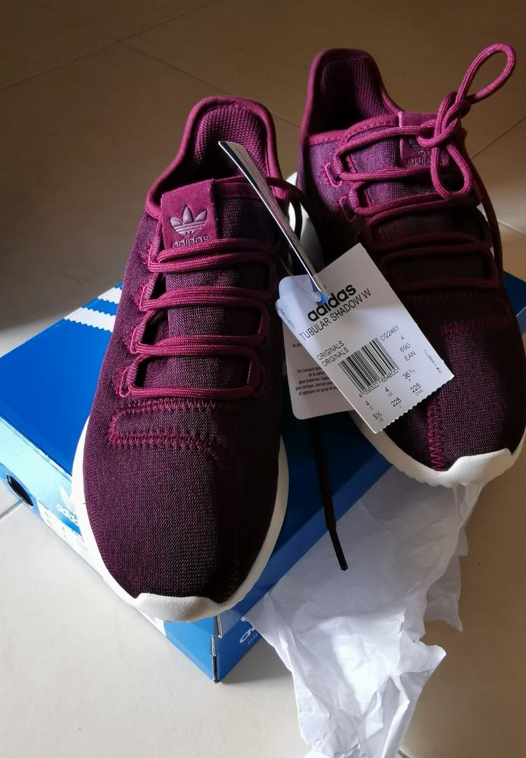new product a7c2b dcd63 Adidas tubular shadow maroon, Women's Fashion, Shoes ...
