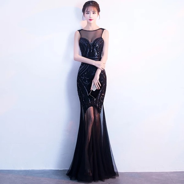 c14b11982e5 (SALE) Black Sequin Mermaid Evening Dress   Long Dinner Dress  Maxi Dress   Prom Dress  Bridesmaid Dress  Gatsby Dress