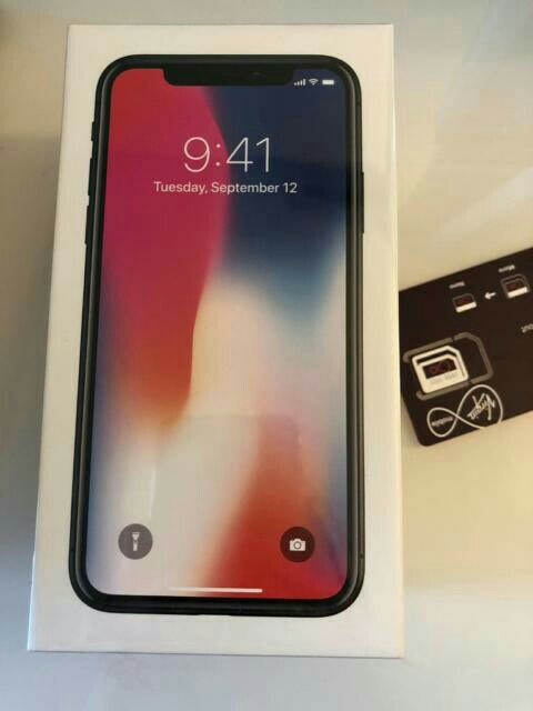 Brand new SEALED apple iPhone X 64gb space grey (Virgin Mobile)