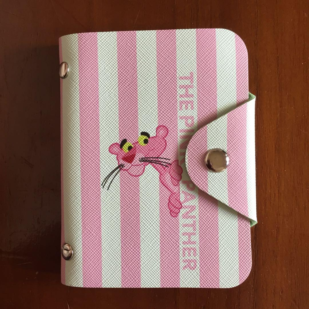 Card holder pink panther