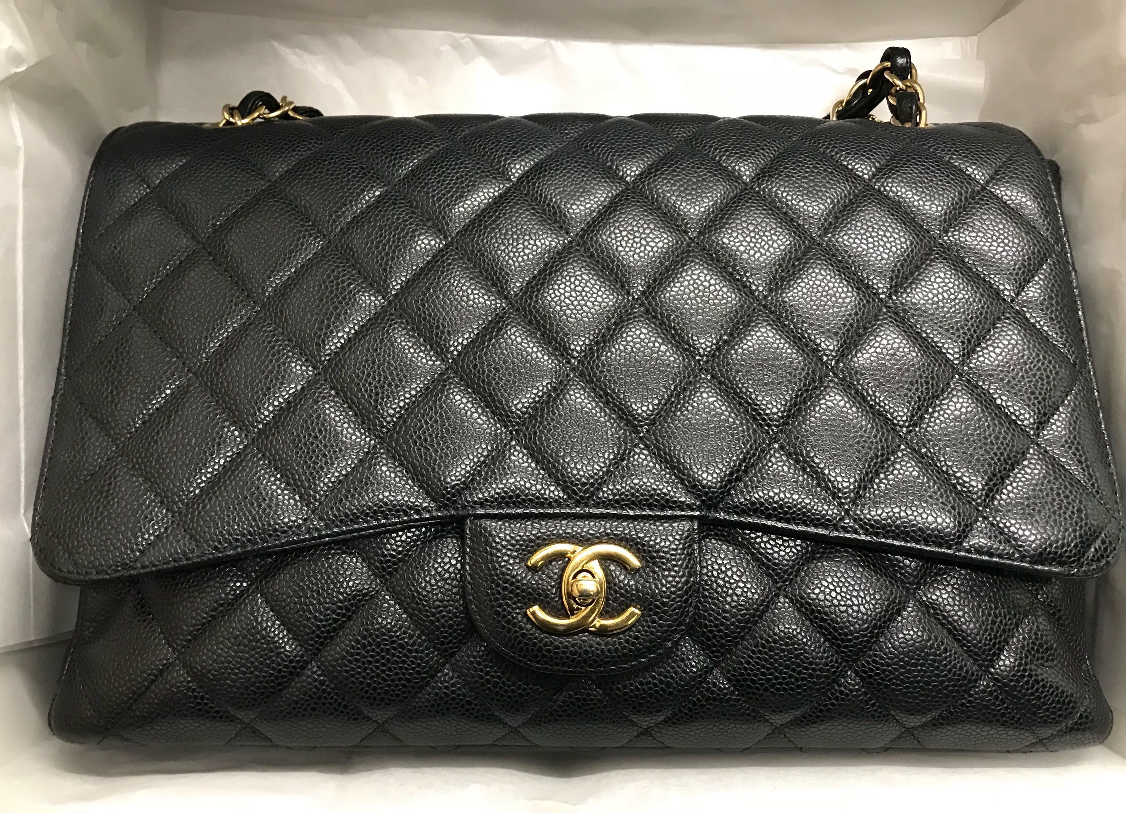 5f42e279f2f39d ❌SOLD!❌Chanel Caviar Maxi Classic S/Flap GHW 14 Series, Luxury, Bags &  Wallets, Handbags on Carousell