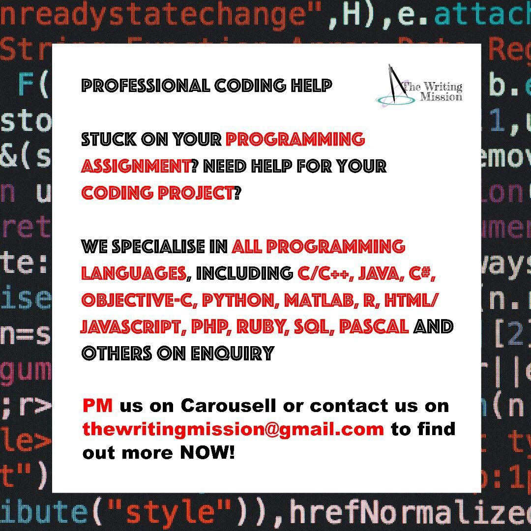 Coding and Programming Help