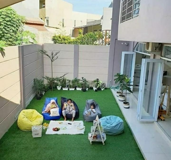 Dekorasi Dan Taman Dengan Karpet Rumput Sintetis Gardening