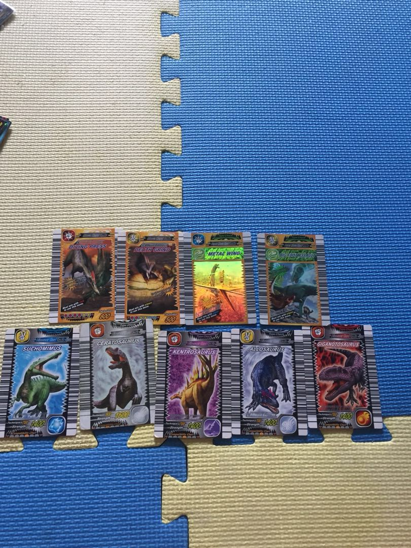 Dinosaur King Game Cards Toys Games Board Games Cards On Carousell