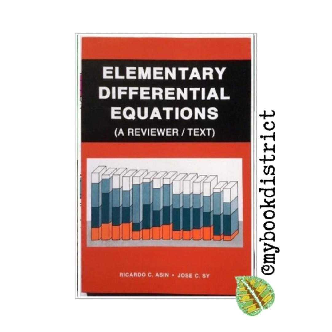 Elementary Differential Equations Reviewer By Asin And Sy