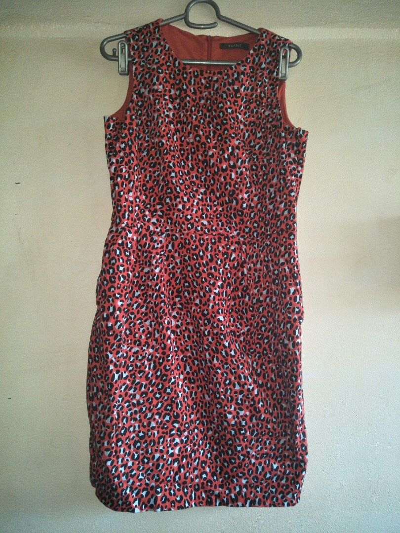 a8ebb6dc7 Esprit red dress, Women's Fashion, Clothes, Dresses & Skirts on ...